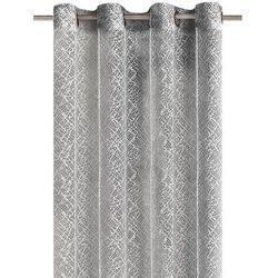 Eurofirany firana amanda srebrna 140 cm x 250 cm