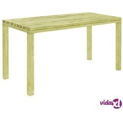 Vidaxl stół ogrodowy, 150x75,5x77 cm, impregnowana sosna fsc (8719883591049)