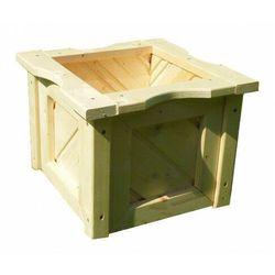 Drewniana kwadratowa donica ogrodowa 15 kolorów - nevis marki Elior