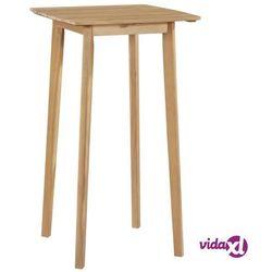 Vidaxl stolik barowy z litego drewna akacjowego, 60 x 60 x 105 cm (8718475614647)