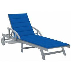 Granatowy leżak ogrodowy - Solar, vidaxl_3061339