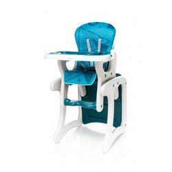 fashion krzesełko do karmienia + stolik 2 w 1 turkus nowość wyprodukowany przez 4baby
