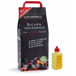 - mały zestaw startowy (1kg węgla + 200 ml rozpałki) marki Lotusgrill