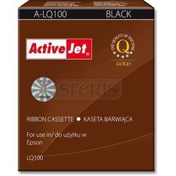 a-lq100 kaseta barwiąca kolor czarny pasuje do drukarki igłowej epson (zamiennik s015032), marki Activejet