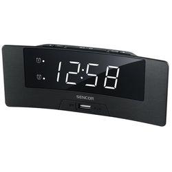 SENCOR zegar z budzikiem SDC 4912 WH, kolor czarny
