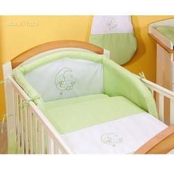 MAMO-TATO pościel 2-el Miś na księżycu w zieleni do łóżeczka 70x140cm z kategorii Komplety pościeli dla dzieci