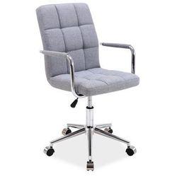 Signal meble Fotel obrotowy q-022 szary materiał