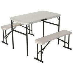 Zestaw ogrodowy stół i dwie ławki LifeTime 106 cm 80352