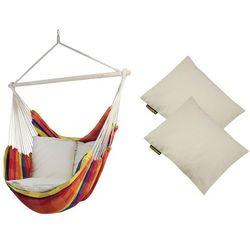 Fotel hamakowy z poduszkami HP, żólto-czerwony Bench De Luxe + HP - 209
