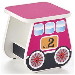 Taboret dziewczęcy wagonik Milo 4X - różowy, V-PL-LOKOMO-TABORET-RÓŻOWY