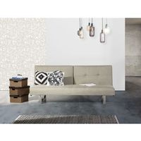 Sofa z funkcją spania jasnobeżowa - kanapa rozkładana - wersalka - DUBLIN