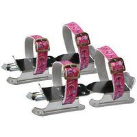 Axer sport Regulowane łyżwy dwupłozowe saneczki axer - różowe - różowy