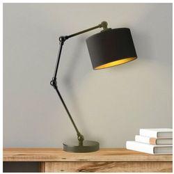 Czarna lampka nocna ze złotym wnętrzem asmara gold marki Lysne