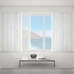 Zasłona okienna na wymiar - WHITE THICK WOODEN BOARDS