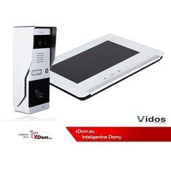 Zestaw wideodomofonu z czytnikiem RFID VIDOS S50A monitor 7'' M690 Biały