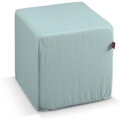 Dekoria  pufa kostka twarda, pastelowy błękit, 40x40x40 cm, cotton panama