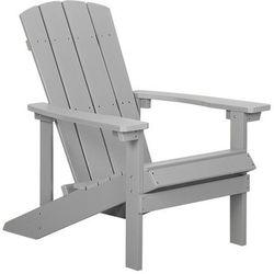 Beliani Krzesło ogrodowe jasnoszare adirondack