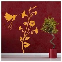 Wally - piękno dekoracji Szablon malarski kwiaty koliber 1102