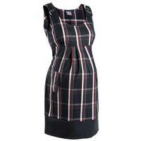 Sukienka ciążowa biznesowa, w kratę  czarno-ciemnoczerwony w kratę marki Bonprix