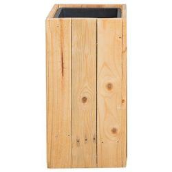 Beliani Doniczka drewniana prostokątna 24 x 24 x 50 cm sykia (4251682214070)