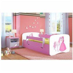 Producent: elior Łóżko dla dziewczynki z szufladą happy 2x mix 70x140 - różowe