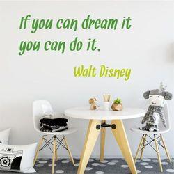 Wally - piękno dekoracji Szablon malarski cytat if you can dream it 1960