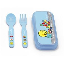 Zak!designs  zestaw sztućców smiley baby dla chłopczyka - 6704-8030