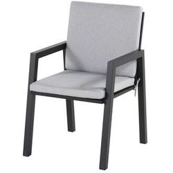 Krzesło ogrodowe w kolorze black/light grey olefin | Ancona (72721708)