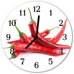 Zegar ścienny okrągły Chilli, kolor czerwony