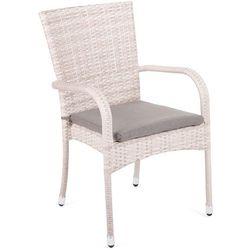 Krzesło technorattanowe Mori Basic Beige z poduszką