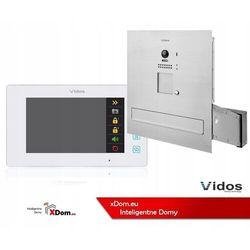 Vidos Zestaw wideodomofonu s1201a-skm_m1021w skrzynka na listy z wideodomofonem monitor biały 7''