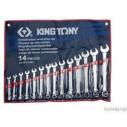 King tony Zestaw kluczy płasko-oczkowych 14cz. calowe 3/8
