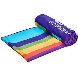 CAMPZ Ręcznik plażowy z mikrofibry 90x200cm, kolorowy 2021 Ręczniki turystyczne (4052406251230)