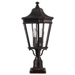 Zewnętrzna lampa stojąca cotswold lane fe/cotsln3/m gb  feiss oprawa ogrodowa słupek latarnia ip44 outdoor brązowy wyprodukowany przez Elstead