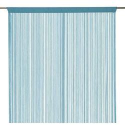Firana sznurek 140 x 260 cm niebieska (3663602684152)