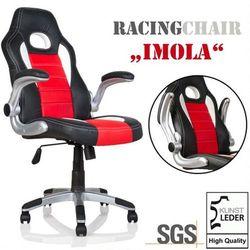 Makstor.pl Sportowy fotel biurowy gabinetowy imola dla gracza - czarny / czerwony / biały (40040276)