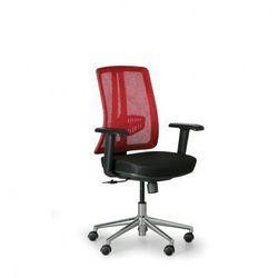 B2b partner Krzesło biurowe human, czarny/czerwony