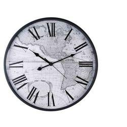 Duży zegar ścienny stara mapa cyfry rzymskie 46 cm marki Home