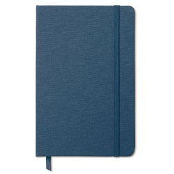 Notatnik w tekstylnej oprawie FABRIC NOTE niebieski z kategorii Upominki
