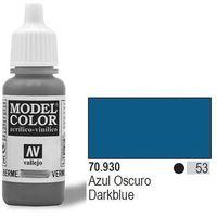 VALLEJO Farba Nr53 Dark Blue 17ml Matt z kategorii farby modelarskie