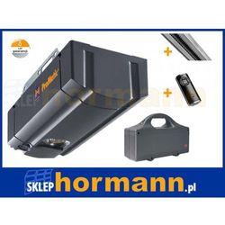 ZESTAW: napęd ProMatic Akku seria 2 (zasilany z baterii, siła 400 N, do 8 m2) + szyna + pilot HS 4 BS - spra