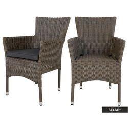 SELSEY Zestaw dwóch krzeseł ogrodowych Deimosa