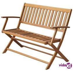 składana ławka ogrodowa z drewna akacjowego, 120 x 60 89 cm marki Vidaxl