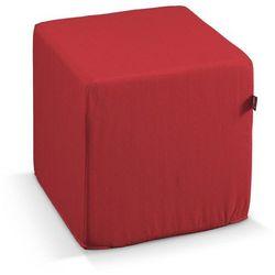 pufa kostka twarda, czerwień, 40x40x40 cm, jupiter marki Dekoria