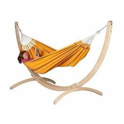 Hamaki la siesta Hamak ze stojakiem drewnianym currambera & canoa 2os.