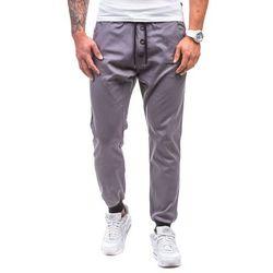 Grafitowe spodnie joggery męskie Denley 0472 - GRAFITOWY