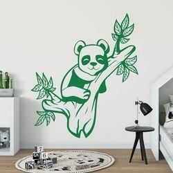 Naklejka na ścianę dla dzieci miś panda 2401