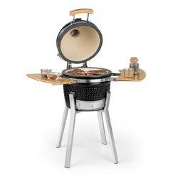 Klarstein Princesize Pro, grill Kamado, 33 cm (13 cali), termometr, części boczne, czarny (4060656228032)