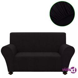 Vidaxl elastyczny pokrowiec na kanapę, czarny (8718475962038)