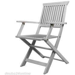 BIAŁE MEBLE DREWNIANE OGRODOWE 4 KRZESŁA - produkt z kategorii- Krzesła ogrodowe